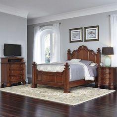 Home Styles Santiago Panel 3 Piece Bedroom Set Size: