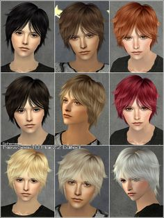 Mod The Sims - CoolSims male hair 27+Peggy Free hair 090601+NewSea male hair 22 Edited