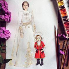 @iri_iriskaaa в Instagram: «Как же горжусь этой работой Спасибо @zhannak_14 за огромное терпение и доверие! У Тебя чудесный малыш и ты невероятной красоты! Спасибо за заказ❤️» Fashion Design Sketchbook, Fashion Sketches, Muslimah Wedding Dress, Wedding Dresses, Fashion Desinger, Fashion Illustration Dresses, Wedding Illustration, Holy Chic, Traditional Outfits