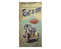 Placa Decorativa Rent A Car - 30X60cm