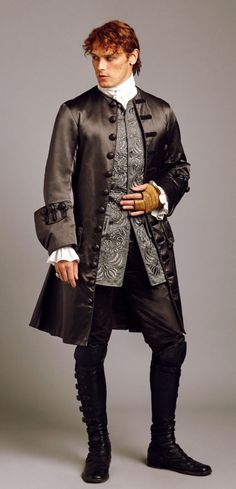 The 18 Best Costumes from 'Outlander' Season 2 - Jamie's black suit