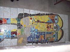 Mural Escuela secundaria de Monte Rincon. Taller de mosaico de Villa Gesell