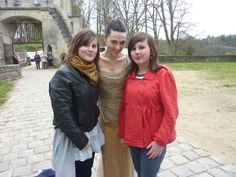 Katie with fans