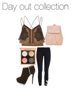 """Day out collection"" by shaelyn188 on Polyvore featuring River Island, Giuseppe Zanotti, MAC Cosmetics, adidas Originals and New Look"