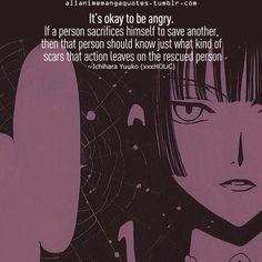 xxxHolic ~~ Yuuko tells Watanuki to stop destroying himself.