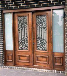 Sarzana. Wood and Wrought Iron Door
