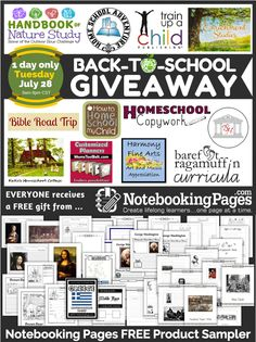 Homeschool Giveaway GRAND PRIZE over $850 value (free gift for everyone!)