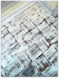 Hometalk :: Painted Wood Floor