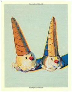 Wayne Thiebaud : Ice Cream Cones