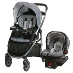 "Graco Modes Travel System with SnugRide Click Connect 35 Infant Car Seat - Echo - Elfe Juvenile Products - Babies""R""Us Best Baby Travel System, Travel Systems For Baby, Graco Infant Car Seat, Baby Necessities, Babies R Us, Traveling With Baby, Baby Shop, Baby Photos, Baby Car Seats"
