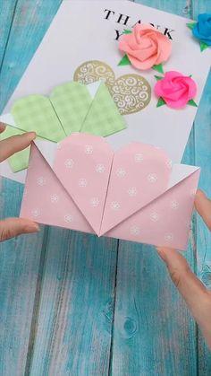 Creative handicraft - Karten basteln - creative crafts let& do together!😘😘😍😍 - Cool Paper Crafts, Paper Crafts Origami, Diy Paper, Fun Crafts, Crafts For Kids, Wood Crafts, Vintage Paper Crafts, Cardboard Crafts, Kids Diy