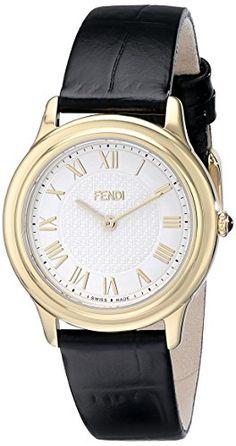 103660dbb16c Fendi Womens F250434011 Classico Analog Display Quartz Black Watch -- Be  sure to check out