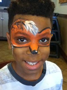 #foxfacepaint Fox Face Paint, Carnival, Painting, Painting Art, Paintings, Carnival Holiday, Drawings