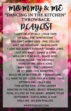 playlist idea, old school playlist, mommy baby playlist