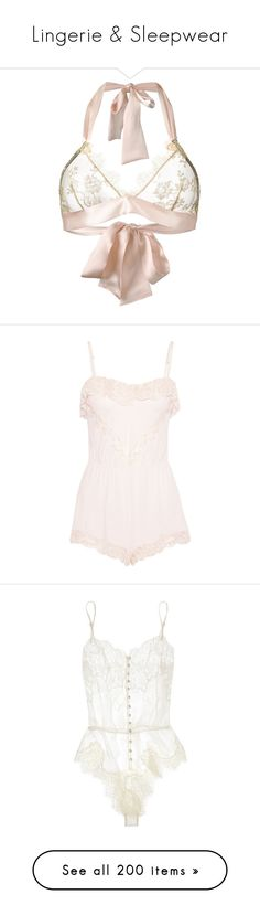 """""""Lingerie & Sleepwear"""" by angelfatale ❤ liked on Polyvore featuring intimates, bras, lingerie, gilda & pearl, underwear, pink lingerie, lingerie bra, pink bra, eberjey and pink jersey"""