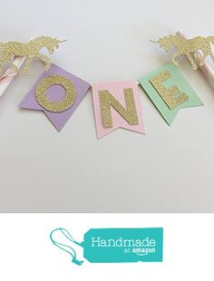 Unicorn Personalized Cake Topper. Shabby, Chic and Magical Unicorn Party. Gold Glitter Decor. Pink, Lavender, Mint, Gold Glitter. from Paper Trail by Laura B. http://www.amazon.com/dp/B01EZN8GV2/ref=hnd_sw_r_pi_dp_LQUvxb02C27W5 #handmadeatamazon