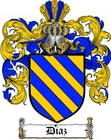Diaz Coat of Arms / Diaz Family Crest - The surname of DIAZ was a baptismal name 'the son of Dionisia' a popular font name during the century. Family Shield, Armadura Medieval, Eastern Star, Family Crest, Crests, Moorish, Coat Of Arms, Middle Ages, Black Art