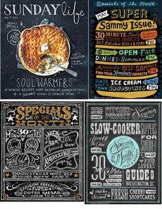 Pinecone: chalkboard art menus