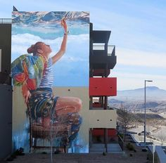 Nuovo pezzo dello street artist australiano Fintan Magee a El Paso, Texas.