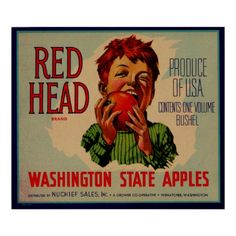 This will always be my favorite Washington Apples poster because it still hangs in my grandma and grandpas kitchen (: