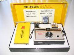 Late 1960s - Had this Kodak Instamatic Camera... it took decent photos and was easy to use.  As a teen though it was a pain that film was expensive to buy / process