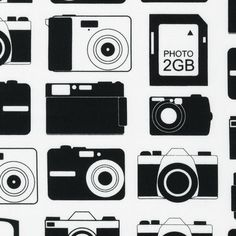 SALE Robert Kaufman Print Pattern Boy Toys Camera Cameras Black Fabric Yard
