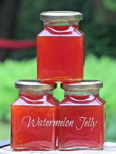 Watermelon Jelly... You have to go to the original source, Earth to Glass Canning to see the recipe in her comments. Enjoy!