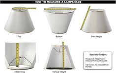How to measure Lampshades | J.Harris Lampshades | Pittsburgh, PA