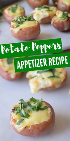 These Potato Poppers are one of our favorite mini side dishes or appetizer recipes for parties! So easy to make and perfect for a crowd! potato al horno asadas fritas recetas diet diet plan diet recipes recipes Potato Appetizers, Easy Appetizer Recipes, Healthy Appetizers, Appetizers For Party, Food For Parties, One Bite Appetizers, Vegetable Appetizers, Easy To Make Appetizers, Appetizer Dishes