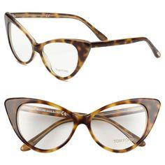 Tom Ford Cat's Eye 55mm Optical Glasses