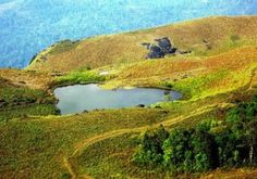 Heart-Shaped Lake, Chembra, India    Itself a major tourist attraction, the lake near the top of Chembra Peak in India is said to have never dried up. Apparently over 150 people pass the lake every day during the 3km journey to the top.
