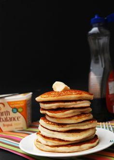 Fluffy, Classic Pancakes (GF, DF, Vegan, Egg, Soy