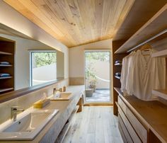 Interior design ideas, home decorating photos and pictures, home design, and contemporary world architecture new for your inspiration. Contemporary Bathroom Designs, Bathroom Design Small, Contemporary Bedroom, Contemporary Homes, Contemporary Architecture, Landry Room, Japanese House, Home Interior Design, New Homes