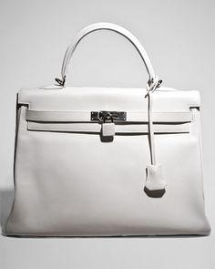 Hermes White Swift Kelly bag.