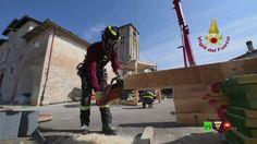 Vigili del Fuoco - Foiano - Messa in sicurezza campanile della Chiesa - ...