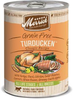 Merrick Turducken Dog Food 13.2 oz (12 Count Case) Merrick https://www.amazon.com/dp/B000N648JU/ref=cm_sw_r_pi_dp_D5fzxbDKX2T7G