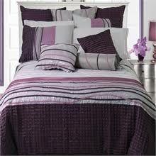 plum, purple, and grey - spare bedroom Purple And Grey Bedding, Purple Bedspread, Purple Comforter, Queen Comforter Sets, Purple Bedrooms, Bedroom Colors, Home Bedroom, Bedroom Ideas, Master Bedroom