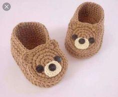 Sapatinhos de urso para bebê