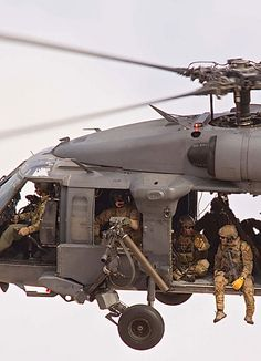 "lahoriblefollia: "" Sikorsky HH-60 Pave Hawk - Doors? Who needs them? """
