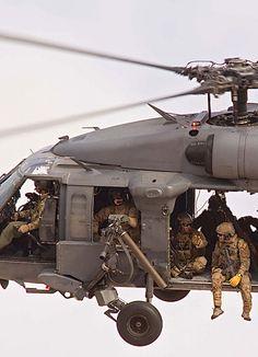 "lahoriblefollia: "" Sikorsky HH-60 Pave Hawk - Doors? Who needs them? """