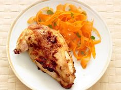 Get Thai Chicken with Carrot-Ginger Salad Recipe from Food Network