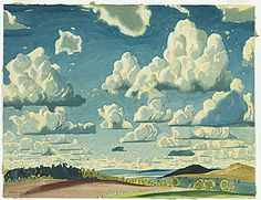 Kenneth MACQUEEN.  Summer sky. 1935. Place made: Millmerran, Darling Downs, Queensland, Australia. watercolour and pencil