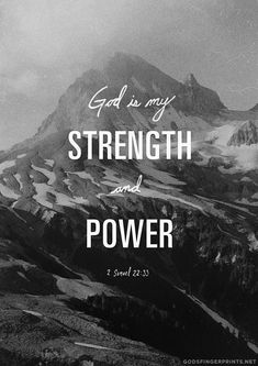 godsfingerprints:    God is the source of our STRENGTH and POWER!!http://facebook.com/Godsfingerprints    God is my strength and my power.