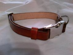 """Adjustable Leather Dog Collar with Side Release Buckle by legacyleathercraft.    Available in 1"""", 3/4"""" and 5/8"""" widths.    From $21.95"""