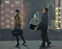"""Iain Faulkner (Scottish, born 1973) """"Shopping"""""""