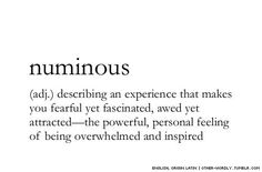 numious // words; definitions