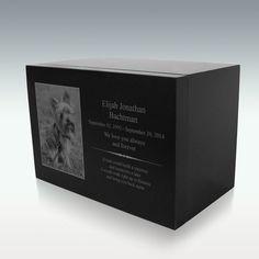 12x8 Engraved Granite Stone Cremation Urn Granite Stone, Black Granite, Picture Engraving, Memorial Stones, Cremation Urns, Pet Memorials, Custom Photo, Laser Engraving, Pet Memorial Stones