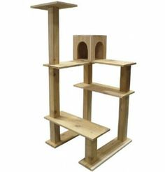 Cedar Outdoor Crystal Tower Cat Tree - Outdoor Cat Condo Price: $399