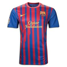11/12 Barcelona Home Red And Blue Soccer Jersey Shirt Replica