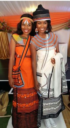 xhosa.                                   Beautiful orange. African Traditional Dresses, Traditional Wedding Dresses, Traditional Outfits, African Wear Dresses, African Attire, Xhosa Attire, Afro, Fairytale Dress, African Inspired Fashion